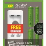 GP PowerBank USB Charger U211 with 2x  ReCyko 1000AA & 2x ReCyko 400AAA