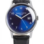 Raised Numerals Watch Blue Face