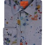 Paint Splatter Shirt Blue