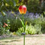 Smart Garden Solar Tulip Flower Stake Light, 2 Pack