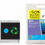 Brother LC-970C Cyan Remanufactured Ink Cartridge by JetTec – B97C