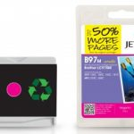Brother LC-970M Magenta Remanufactured Ink Cartridge by JetTec – B97M