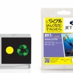 Brother LC-970Y Yellow Remanufactured Ink Cartridge by JetTec – B97Y