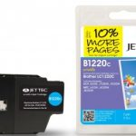 Brother LC-1220C Cyan Remanufactured Ink Cartridge by JetTec – B1220C