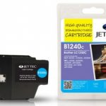 Brother LC-1240C Cyan Remanufactured Ink Cartridge by JetTec – B1240C