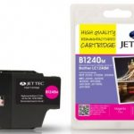 Brother LC-1240M Magenta Remanufactured Ink Cartridge by JetTec – B1240M