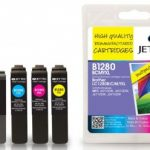 Brother LC-1280 BCMY XL Multipack Remanufactured Ink Cartridge by JetTec – B1280/B/C/M/Y XL