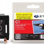 Canon BC-01 Black Remanufactured Ink Cartridge by JetTec – C1