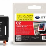 Canon BC-02 Black Remanufactured Ink Cartridge by JetTec – C2