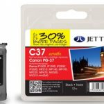 Canon PG-37 Black Remanufactured Ink Cartridge by JetTec – C37