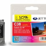 Canon CL-38 Colour Remanufactured Ink Cartridge by JetTec – C38