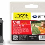 Canon PG-40 Black Remanufactured Ink Cartridge by JetTec – C40