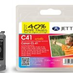 Canon CL-41 Colour Remanufactured Ink Cartridge by JetTec – C41