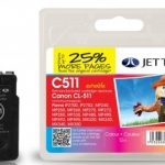 Canon CL-511 Colour Remanufactured Ink Cartridge by JetTec – C511