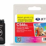 Canon CL-546 XL Colour Remanufactured Ink Cartridge by JetTec – C546XL