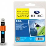 Epson T0482 Cyan Remanufactured Ink Cartridge by JetTec – E48C