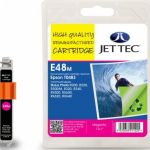 Epson T0483 Magenta Remanufactured Ink Cartridge by JetTec – E48M