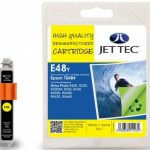 Epson T0484 Yellow Remanufactured Ink Cartridge by JetTec – E48Y