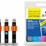 Epson T055 B/C/M/Y MULTIPACK Remanufactured Ink Cartridge by JetTec – E55 Combi