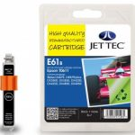 Epson T0611 Black Remanufactured Ink Cartridge by JetTec – E61B