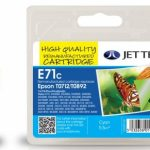 Epson T0712 Cyan Remanufactured Ink Cartridge by JetTec – E71C