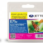 Epson T0713 Magenta Remanufactured Ink Cartridge by JetTec – E71M