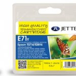 Epson T0714 Yellow Remanufactured Ink Cartridge by JetTec – E71Y
