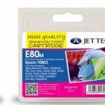 Epson T0803 Magenta Remanufactured Ink Cartridge by JetTec – E80M
