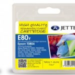 Epson T0804 Yellow Remanufactured Ink Cartridge by JetTec – E80Y