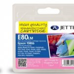 Epson T0806 Light Magenta Remanufactured Ink Cartridge by JetTec – E80LM