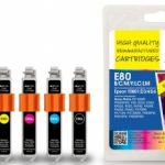Epson T080 B/C/M/Y/PC/PM MULTIPACK Remanufactured Ink Cartridge by JetTec – E80