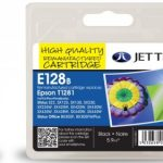 Epson T1281 Black Remanufactured Ink Cartridge by JetTec – E128B
