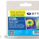 Epson T1282 Cyan Remanufactured Ink Cartridge by JetTec – E128C