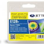 Epson T1284 Yellow Remanufactured Ink Cartridge by JetTec – E128Y