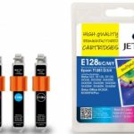 Epson T1281/2/3/4 Multipack Remanufactured Ink Cartridge by JetTec – E128B/C/M/Y