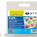 Epson T1292 Cyan Remanufactured Ink Cartridge by JetTec – E129C