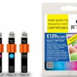 Epson T1291/2/3/4 Multipack Remanufactured Ink Cartridge by JetTec – E129B/C/M/Y
