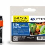 Epson T1621 Black Remanufactured Ink Cartridge by JetTec – E16B