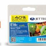 Epson T1622 Cyan Remanufactured Ink Cartridge by JetTec – E16C