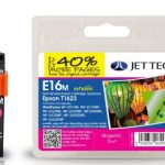 Epson T1623 Magenta Remanufactured Ink Cartridge by JetTec – E16M