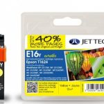 Epson T1624 Yellow Remanufactured Ink Cartridge by JetTec – E16Y