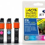 Epson T1621/2/3/4 Multipack Remanufactured Ink Cartridge by JetTec – E16B/C/M/Y