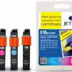 Epson T1801/2/3/4 Multipack Compatible Ink Cartridge by JetTec – E18B/C/M/Y
