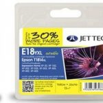 Epson T1814 Yellow XL Remanufactured Ink Cartridge by JetTec – E18YXL
