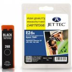 Epson T2601 Black Remanufactured Ink Cartridge by JetTec – E26B