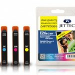 Epson T2601/2/3/4 Multipack Remanufactured Ink Cartridge by JetTec – E26B/C/M/Y