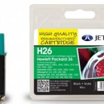 HP26 51626AE Black Remanufactured Ink Cartridge by JetTec – H26