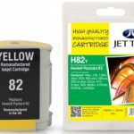 HP82Y C4913A Yellow Remanufactured Ink Cartridge by JetTec – H82Y
