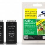 HP339 C8767EE Black HC TWINPACK Remanufactured Ink Cartridge by JetTec – H339