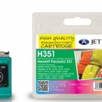 HP351 CB337EE Colour Remanufactured Ink Cartridge by JetTec – H351